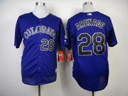 Mens mlb colorado rockies #28 arenado purple Jersey