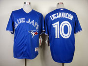 Mens Mlb Toronto Blue Jays #10 Encarnacion Blue Jersey