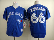 Mens mlb toronto blue jays #66 kawasaki blue 2012 new style Jersey