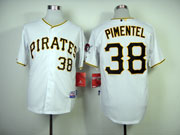 Mens Mlb Pittsburgh Pirates #38 Pimentel White Cool Base Jersey