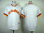 Mens mlb san diego padres (blank) white 1984 turn back Jersey