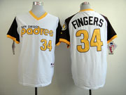 Mens Mlb San Diego Padres #34 Fingers White 1978 Turn Back Throwbacks Jersey