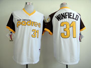 Mens Mlb San Diego Padres #31 Winfield White 1978 Turn Back Throwbacks Jersey