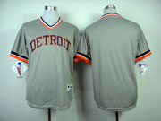 Mens Mlb Detroit Tigers Custom Made  Gray 1984 Turn Back Cool Base Jersey