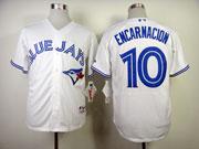 Mens Mlb Toronto Blue Jays #10 Encarnacion White Jersey