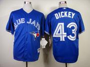 Mens mlb toronto blue jays #43 dickey blue 2012 new style Jersey
