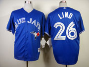 Mens mlb toronto blue jays #26 lind blue 2012 new style Jersey