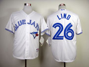 Mens mlb toronto blue jays #26 lind white 2012 new style Jersey