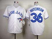 Mens mlb toronto blue jays #36 hutchison white 2012 new style Jersey