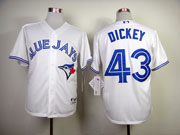 Mens mlb toronto blue jays #43 dickey white 2012 new style Jersey