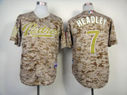 Mens mlb san diego padres #7 headley camouflage Jersey