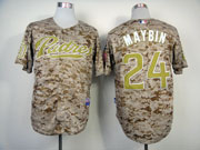 Mens mlb san diego padres #24 maybin camouflage Jersey