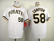 Mens Mlb Pittsburgh Pirates #58 Cumpton White Pullover Jersey