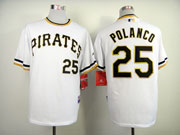 Mens Mlb Pittsburgh Pirates #25 Polanco White Pullover Jersey