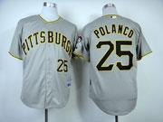 Mens Mlb Pittsburgh Pirates #25 Polanco Gray Jersey