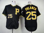Mens Mlb Pittsburgh Pirates #25 Polanco Black Jersey