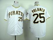 Mens Mlb Pittsburgh Pirates #25 Polanco White Jersey