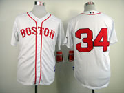 Mens Mlb Boston Red Sox #34 Ortiz White (2014 New No Name) Jersey