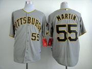 Mens Mlb Pittsburgh Pirates #55 Martin Gray Jersey