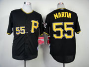 Mens Mlb Pittsburgh Pirates #55 Martin Black Jersey