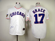 Mens Mlb Chicago Cubs #17 Grace Full White 1968 Throwbacks Jersey
