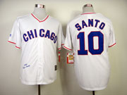Mens Mlb Chicago Cubs #10 Santo Full White 1968 Throwbacks Jersey