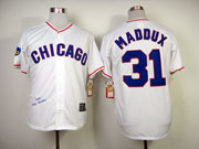 Mens Mlb Chicago Cubs #31 Maddux Full White 1988 Throwbacks Jersey