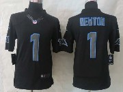 Mens Nfl Carolina Panthers #1 Cam Newton Black New Impact Limited Jersey