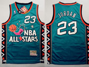 Mens Nba 1996 All Star Washington Bullets 23 Jordan Blue Hardwood Classic Jersey (m)