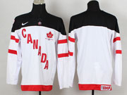 Mens Reebok Nhl Team Canada Blank 2014 100th Anniversary White Jersey