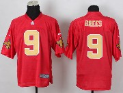 mens nfl New Orleans Saints #9 Drew Brees 2014 qb red jersey