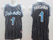 Mens Nba Orlando Magic #1 Hardaway Black Stripe Jersey