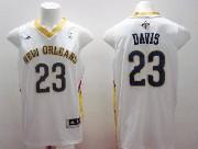 Mens Nba New Orleans Hornets #23 Davis White Jersey