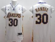 Mens Nba Los Angeles Lakers #30 Randle White Revolution 30 Jersey (p)