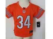 kids nfl Chicago Bears #34 Walter Payton orange jersey