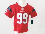 kids nfl Houston Texans #99 JJ Watt red jersey