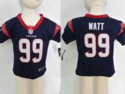 kids nfl Houston Texans #99 JJ Watt blue jersey