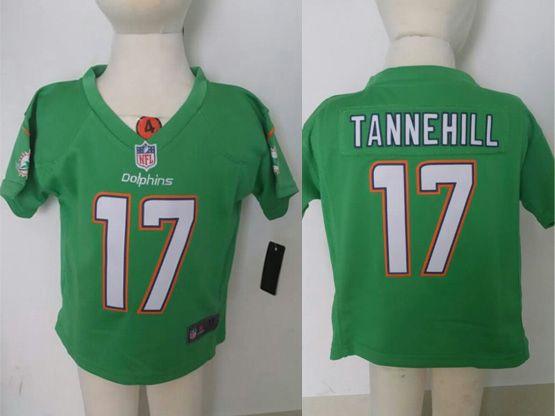Kids Nfl Miami Dolphins #17 Tannehill Green Jersey