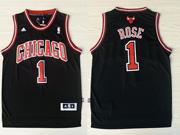 Mens Nba Chicago Bulls #1 Rose Black (chicago) Revolution 30 Jersey (p)