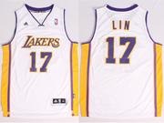 Mens Nba Los Angeles Lakers #17 Lin White Revolution 30 Jersey (p)