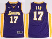 Mens Nba Los Angeles Lakers #17 Lin Purple Revolution 30 Jersey (p)