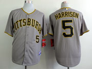 Mens Mlb Pittsburgh Pirates #5 Harrison Gray Jersey
