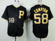 Mens mlb pittsburgh pirates #58 cumpton black Jersey