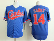 Mens Mlb Chicago Cubs #14 Banks 1994 Turn Back The Clock Blue Jersey