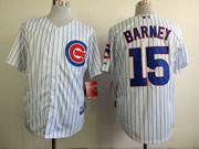 mens mlb chicago cubs #15 barney white Jersey (blue stripe)