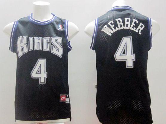 Mens Nba Sacramento Kings #4 Webber Black Nk Jersey (m)