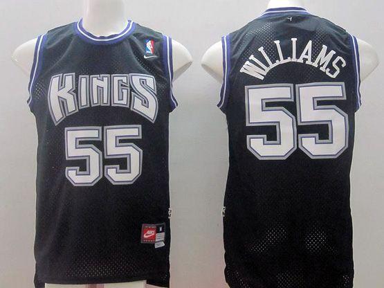 Mens Nba Sacramento Kings #55 Williams Black Nk Jersey (m)