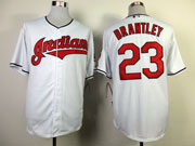 Mens mlb cleveland indians #23 brantley white Jersey