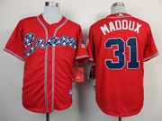 Mens Mlb Atlanta Braves #31 Maddux Red(2014 New) Jersey( Cool Base)