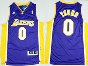 Mens Nba Los Angeles Lakers #0 Young Purple Revolution 30 Jersey (p)